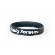RALLY FOREVER szilikon karkötő, fekete