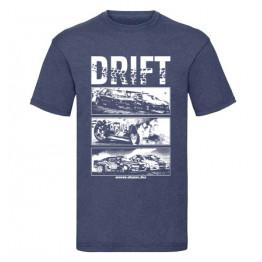 DRIFT ALLSTARS férfi póló, farmerkék