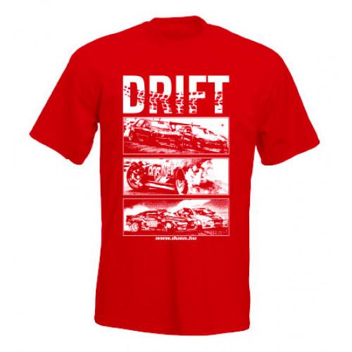 DRIFT ALLSTARS férfi póló, piros