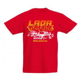 DRIFT BATTLE gyerek póló, piros