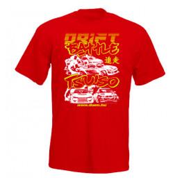 DRIFT BATTLE férfi póló, piros