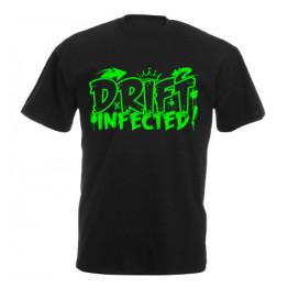 DRIFT INFECTED férfi póló, fekete