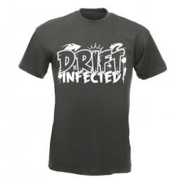 DRIFT INFECTED férfi póló, grafit