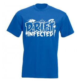 DRIFT INFECTED férfi póló, királykék