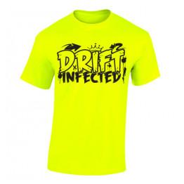 DRIFT INFECTED férfi póló, neon