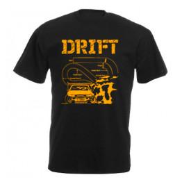 DRIFT pályarajz férfi póló, fekete