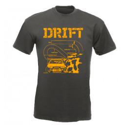 DRIFT pályarajz férfi póló, grafit