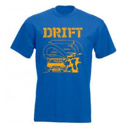 DRIFT pályarajz férfi póló, királykék