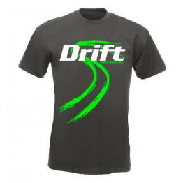 DRIFT guminyom férfi póló, grafit-zöld