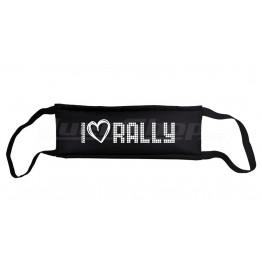 I LOVE RALLY maszk, fekete