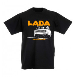 LADA 2107 JUMP gyerek póló, fekete