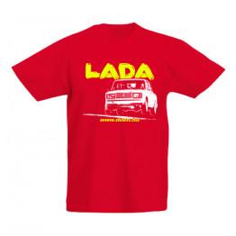 LADA 2107 JUMP gyerek póló, piros