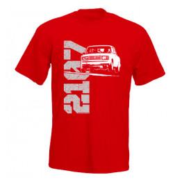 LADA 2107 JUMP férfi póló, piros