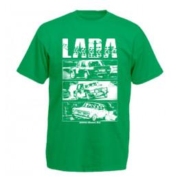 LADA ALLSTARS férfi póló, zöld