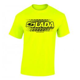 LADA AUTOSPORT férfi póló, neon