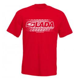 LADA AUTOSPORT férfi póló, piros