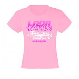 LADA BATTLE lány póló, rózsaszín