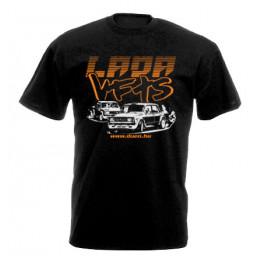 LADA VFTS férfi póló, fekete