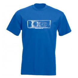 MŰSZERFAL 2107 férfi póló, királykék