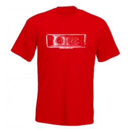 MŰSZERFAL 2107 férfi póló, piros