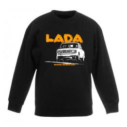 LADA 2107 JUMP gyerek pulóver, fekete