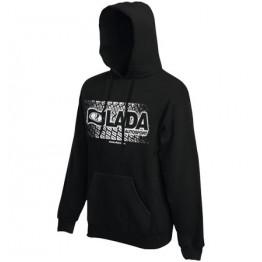 LADA AUTOSPORT kapucnis női pulóver, fekete