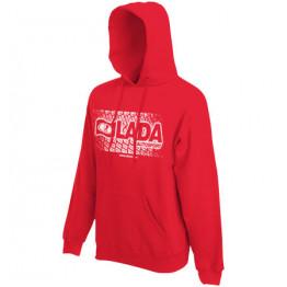 LADA AUTOSPORT kapucnis pulóver, piros