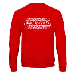 LADA AUTOSPORT férfi pulóver, piros