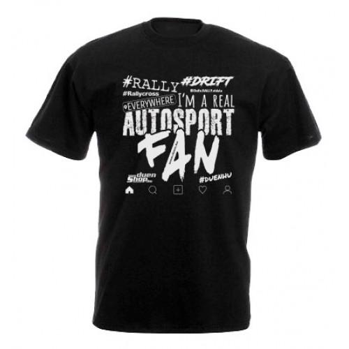AUTOSPORT FAN 2021 férfi póló, fekete