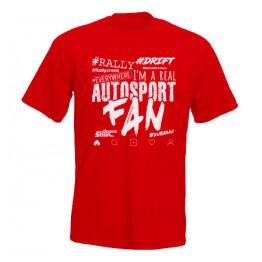 AUTOSPORT FAN 2021 férfi póló, piros