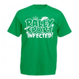 RALLYSPORT INFECTED férfi póló, zöld