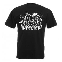 RALLYSPORT INFECTED férfi póló, fekete