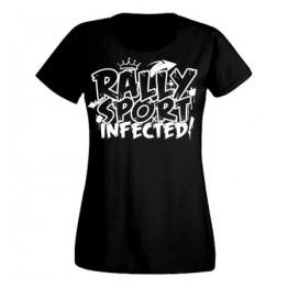 RALLYSPORT INFECTED női felső, fekete