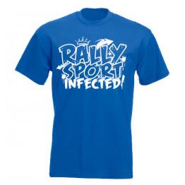 RALLYSPORT INFECTED férfi póló, királykék