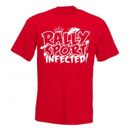 RALLYSPORT INFECTED férfi póló, piros