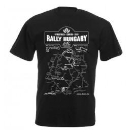 RALLY HUNGARY 2020 férfi póló, fekete