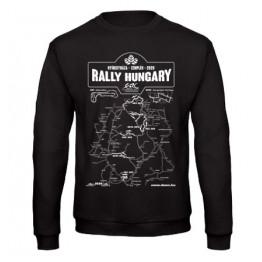 RALLY HUNGARY 2020 férfi pulóver, fekete