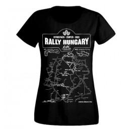 RALLY HUNGARY 2020 női felső, fekete