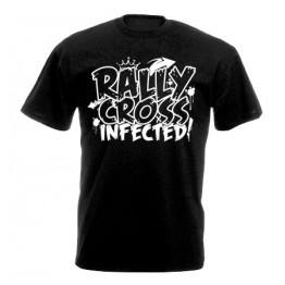 RALLYCROSS INFECTED férfi póló, fekete