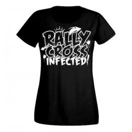 RALLYCROSS INFECTED női felső, fekete