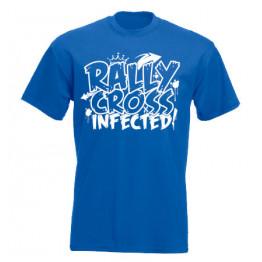 RALLYCROSS INFECTED férfi póló, királykék