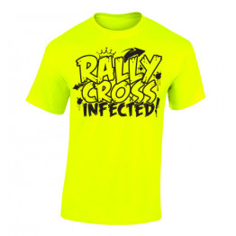 RALLYCROSS INFECTED férfi póló, neon