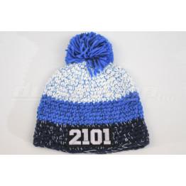 LADA 2101 kötött sapka, kék-fehér