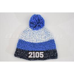LADA 2105 kötött sapka, kék-fehér