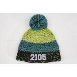 LADA 2105 kötött sapka, fekete-zöld-lime