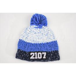 LADA 2107 kötött sapka, kék-fehér