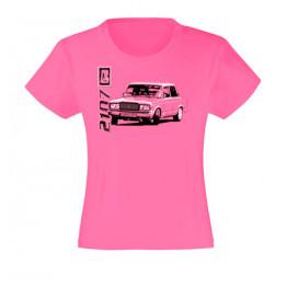LADA 2107 lány póló, rózsaszín