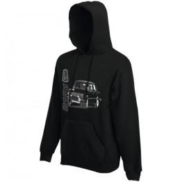 LADA 2101 kapucnis pulóver, fekete