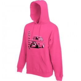 LADA 2101 kapucnis női pulóver, magenta