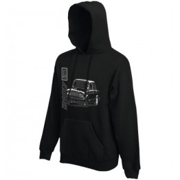 LADA 2107 kapucnis pulóver, fekete